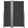 Paravent extérieur rétractable double 600x160cm anthracite store vertical