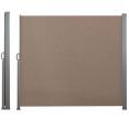 Paravent rétractable 300 x 180 cm store taupe latéral enroulable