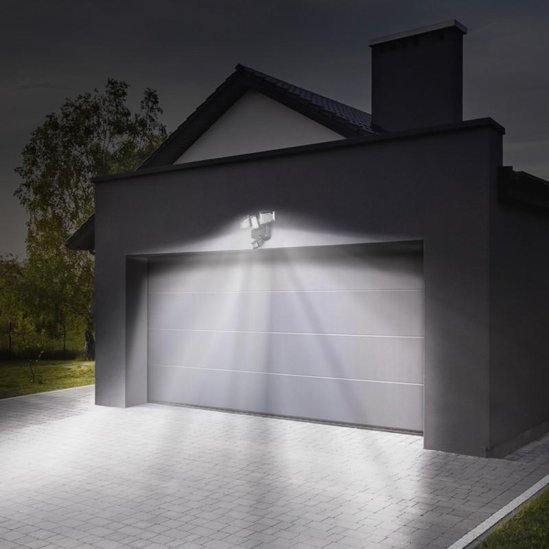 projecteur solaire 3 t tes 178 led d tecteur de mouvement. Black Bedroom Furniture Sets. Home Design Ideas