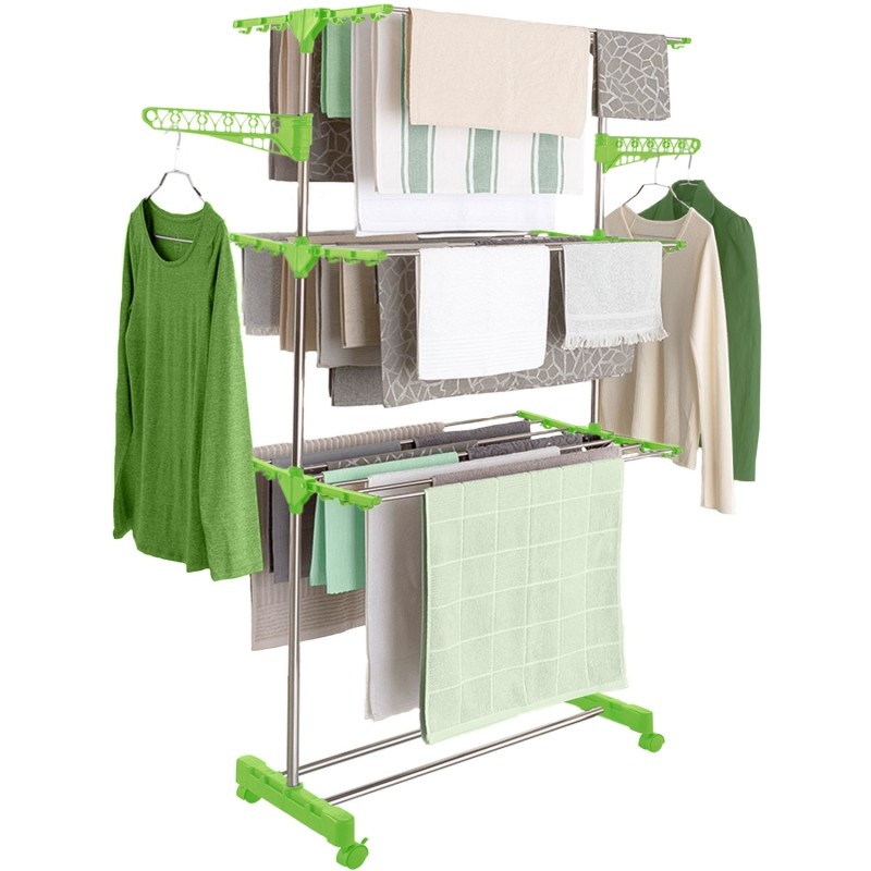 s choir linge inox maxima vert tendoir pliable linge et entreti. Black Bedroom Furniture Sets. Home Design Ideas
