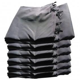 Jeu de 6 rideaux gris pour tonnelle Gloria 3 x 4 m