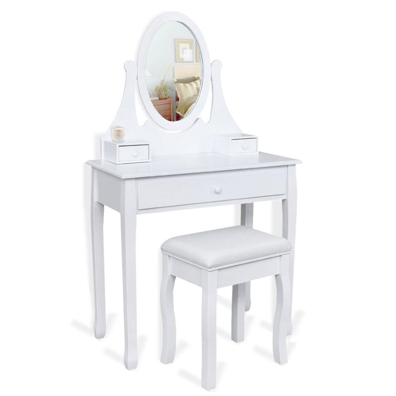 Coiffeuse Blanche Avec Miroir Pas Cher Id Market