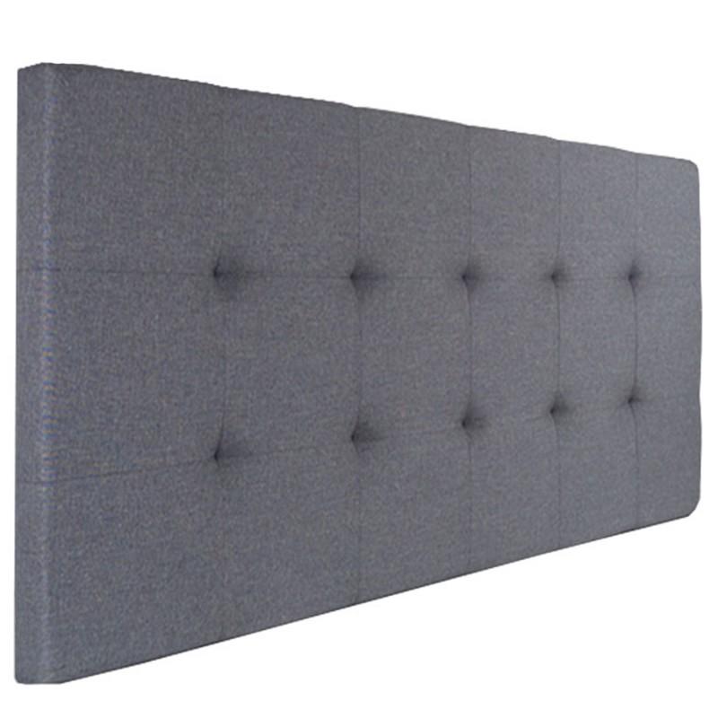 t te de lit capitonn e en tissu 160x58 cm grise anthracite accesso. Black Bedroom Furniture Sets. Home Design Ideas
