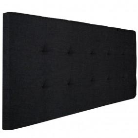 Tête de lit capitonnée tissu 160x60 cm noire