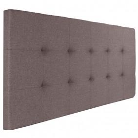 Tête de lit capitonnée tissu 160x60 cm taupe