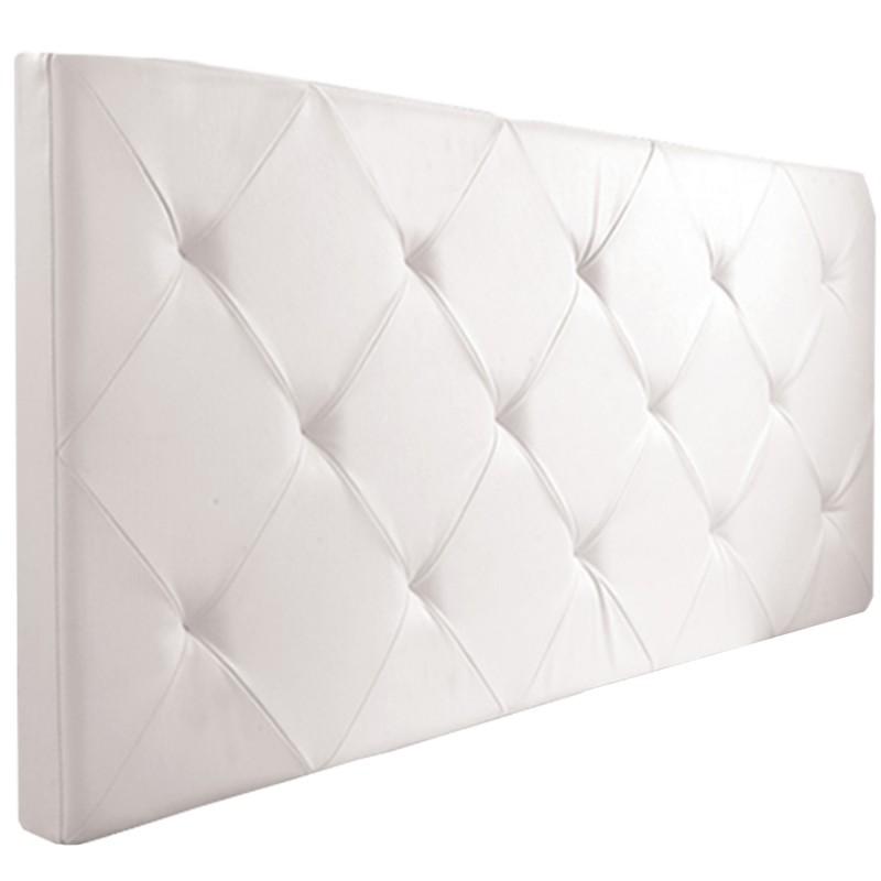 t te de lit capitonn e pvc blanc 160x58 cm ebay. Black Bedroom Furniture Sets. Home Design Ideas