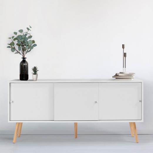 Buffet Effie scandinave bois blanc