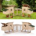 Poulailler d'angle FAMILY avec 2 pondoirs en bois