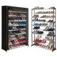 Étagère range chaussures 50 paires housse noire