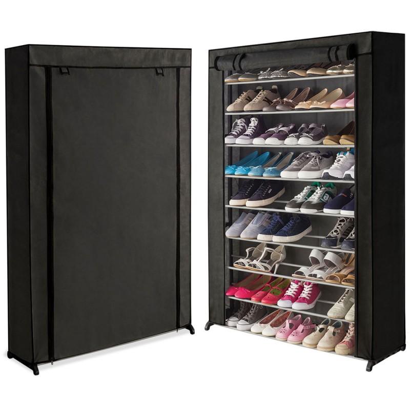 tag re range chaussures 50 paires housse noire. Black Bedroom Furniture Sets. Home Design Ideas