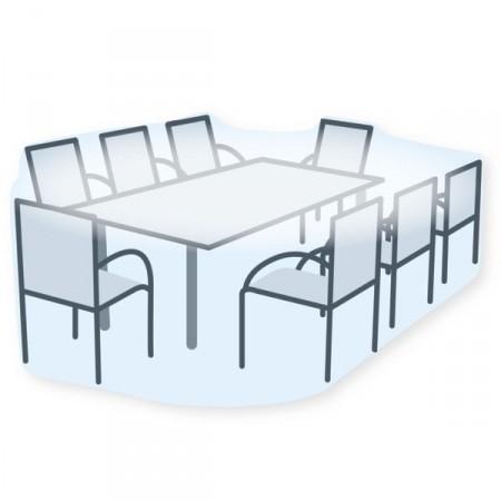 Housse de protection pour salon de jardin rectangulaire - Bache protection table exterieure ...