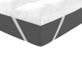 Surmatelas ultra-confortable en plumes d'oie anti-acariens 160 x 200 cm