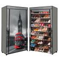 Étagère range chaussures 50 paires housse imprimé Londres