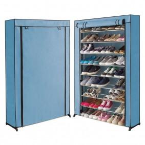 Étagère range chaussures 50 paires housse bleue claire