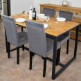 Lot de 4 chaises en velours grises pour salle à manger