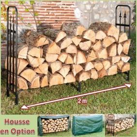 Serre bûche luxe range bois grande capacité