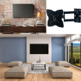 SUPPORT TV MURAL PIVOTANT ET INCLINABLE CAPACITÉ 25 KG ECRAN LCD, LED, PLASMA