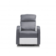 Fauteuil relaxation inclinable gris anthracite et blanc
