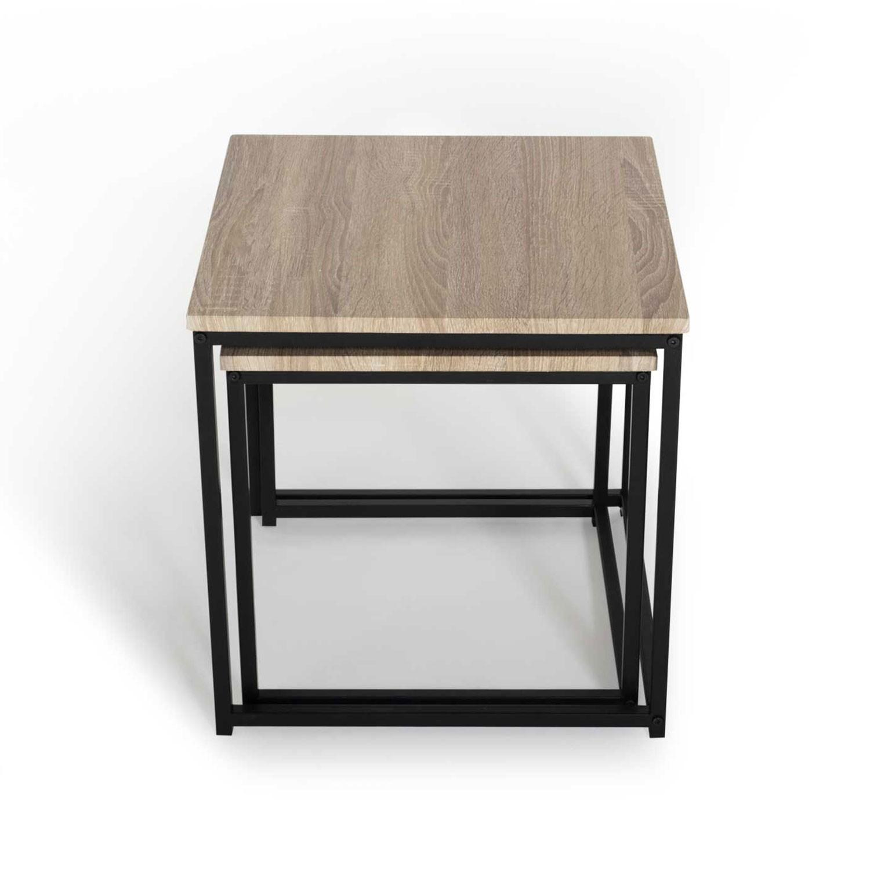 De Gigognes Industriel Design Tables Lot 2 Basses Detroit Idmarket 4jLRq53A