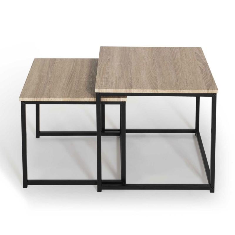 Tables Basses Gigognes Style Industriel Pas Cher Id Market