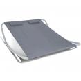 Lit bain de soleil 180cm toile grise