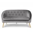 Canapé en velours Sonia gris
