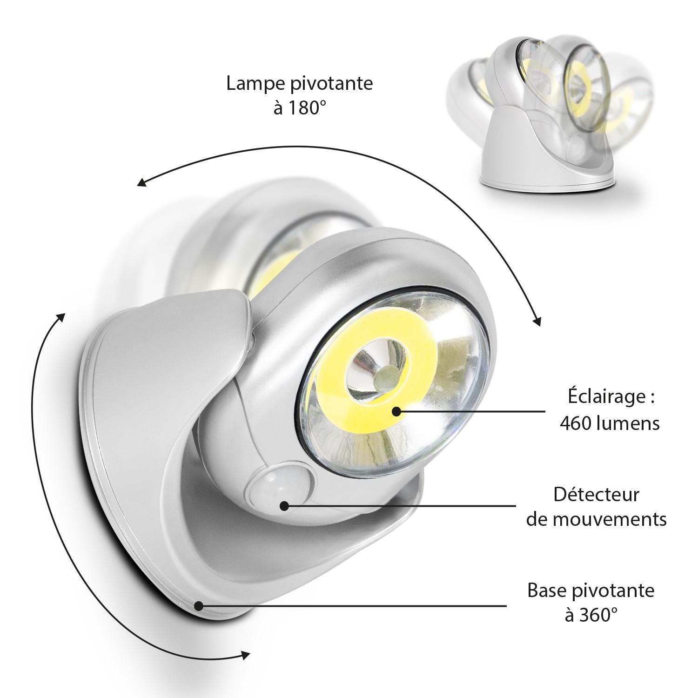 Lampes Idmarket De Murales Avec Led Lot Sensor 2 Wxpn0k8o Cob m0wy8nOvPN