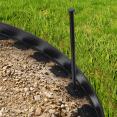 Bordurette de jardin flexible 10 M avec 30 piquets d'ancrage