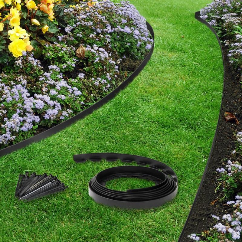 Bordure de jardin plastique pas cher noire 10 m tres id - Bordure de jardin pas cher ...