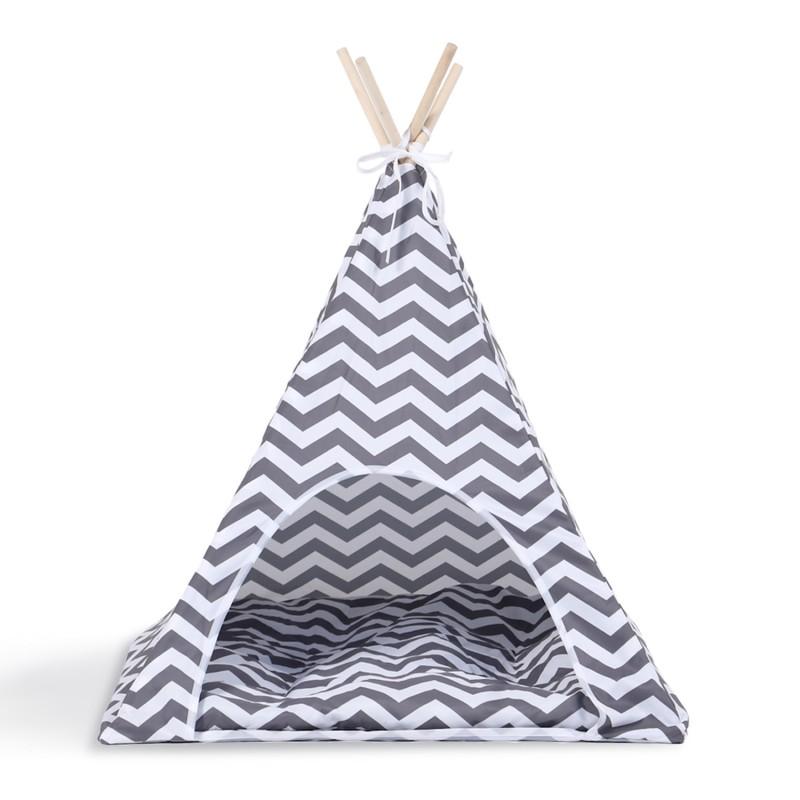 tipi pour animaux petit mod le design scandinave gris et. Black Bedroom Furniture Sets. Home Design Ideas