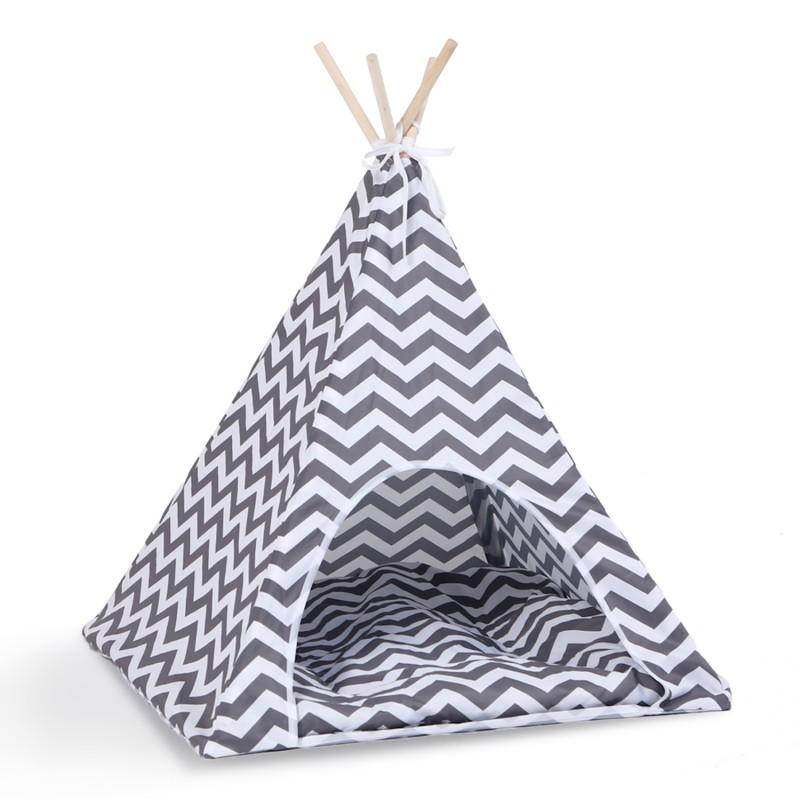 tipi pour animaux petit mod le design scandinave gris et blanc. Black Bedroom Furniture Sets. Home Design Ideas