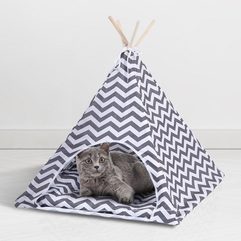 tipi pour animaux grand mod le design scandinave gris et blanc. Black Bedroom Furniture Sets. Home Design Ideas