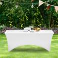 Housse blanche pour table pliante 180 CM