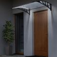Marquise d'accueil à LED solaire 80X150 cm polycarbonate