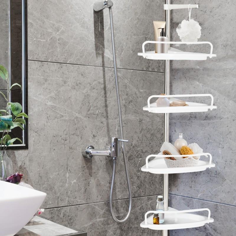 etag re d 39 angle de douche t lescopique chrom e avec 4. Black Bedroom Furniture Sets. Home Design Ideas