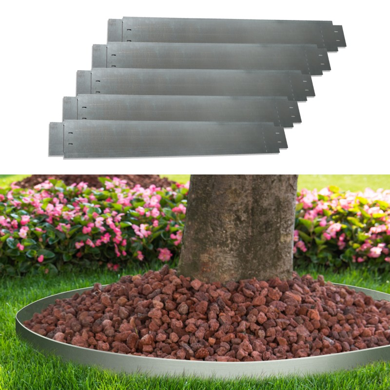 bordurette de jardin x5 en acier l 5 m x h m. Black Bedroom Furniture Sets. Home Design Ideas