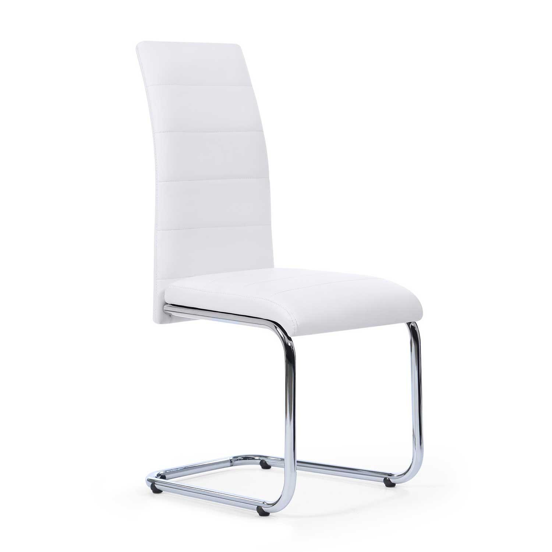 Lot de 4 chaises blanches pas cher pour salle manger - Chaises de couleur pour salle a manger ...