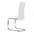Lot de 4 chaises Mia blanches pour salle à manger