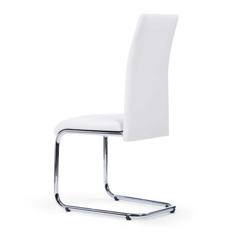 Lot de 4 chaises blanches pas cher pour salle à manger MIA