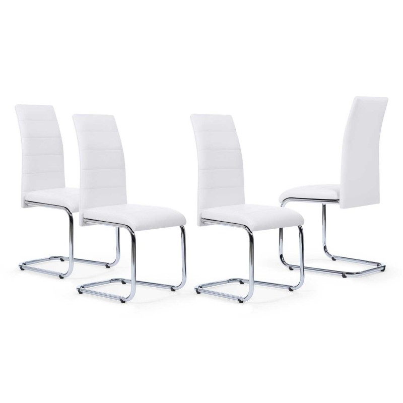 lot de 4 chaises mia blanches pour salle manger. Black Bedroom Furniture Sets. Home Design Ideas