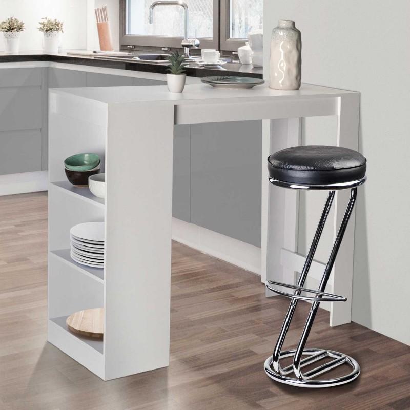 table de bar barth 2 4 personnes bois blanc. Black Bedroom Furniture Sets. Home Design Ideas