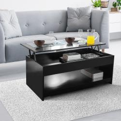TABLE BASSE PLATEAU RELEVABLE GM - NOIRE
