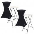 Lot de 2 tables hautes 105 cm pliantes