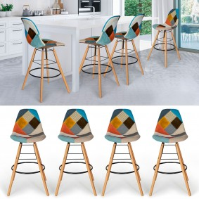 TABOURET PATCHWORK COLOR X4