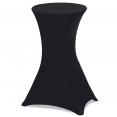 Housse noire x2 pour table haute pliante 105 cm