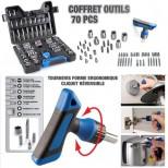 Coffret Outil 70 pièces ultra complet avec cliquet intégré