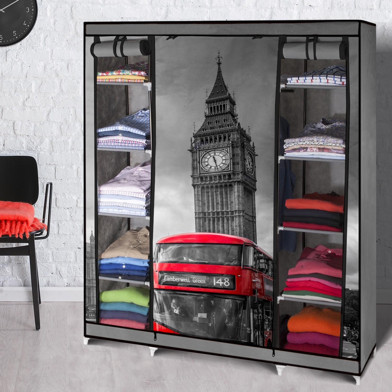 armoire de rangement londres dressing penderie xxl tissu. Black Bedroom Furniture Sets. Home Design Ideas