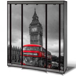 Armoire de rangement Londres dressing penderie XXL tissu