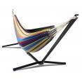 Hamac avec support métal et toile rayée multicolore