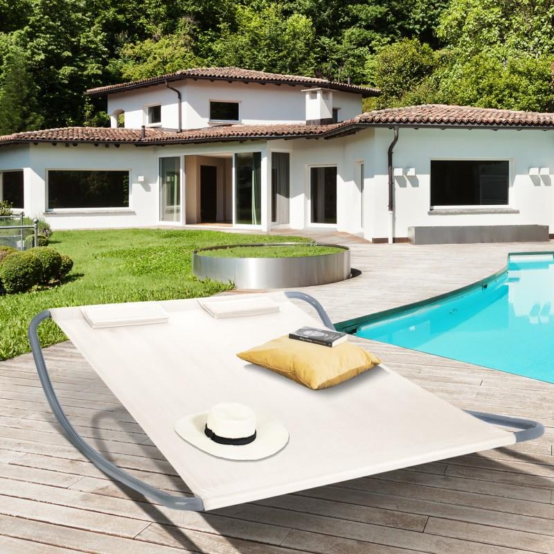 lit bain de soleil 180cm toile crue. Black Bedroom Furniture Sets. Home Design Ideas
